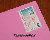 Vintage Unused US Postage Stamp .. 4c U.S. JAPAN Friendship Stamp issued 1961.. Pack of 20 stamps. Cherry blossoms in Washington DC, Pinks