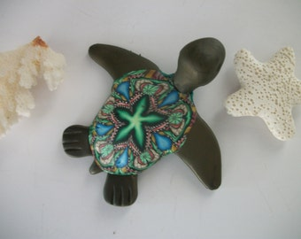 Sea Turtle Save Endangered Species Polymer Clay