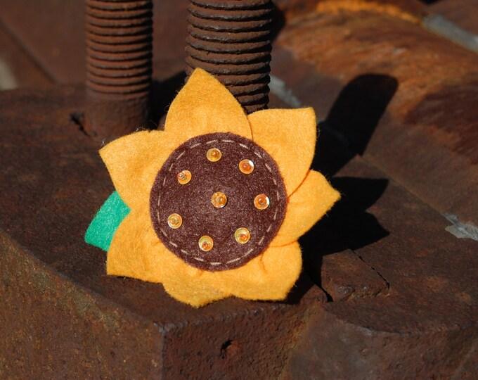 Sunflower Hair Clip Basic Alligator Clip Non Slip Barrettes for Babies Toddler Girl