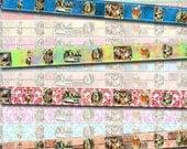 "Alice In Wonderland Washi Tape-.5""x10""- 16 strips- Instant Download- Printable Collage Sheet JPG Digital File-NeW LoWER PRiCE"