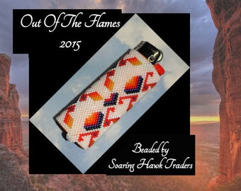 Bead PATTERN Paytah  Lighter Cover Peyote or Brick stitch