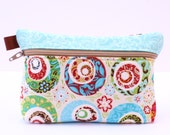 Essential Oil Bag holds 5 10ml oils Essential oil pouch boho circles print
