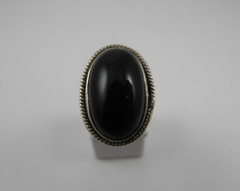 Onyx Sterling Silver Statement Ring