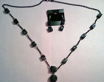 Borg Cubes Necklace and Earrings