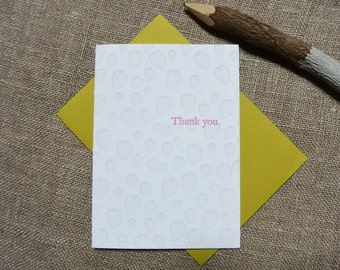 Letterpress Greeting Card - Thank You Card - Strawberry Illustration Pattern - EGI-358