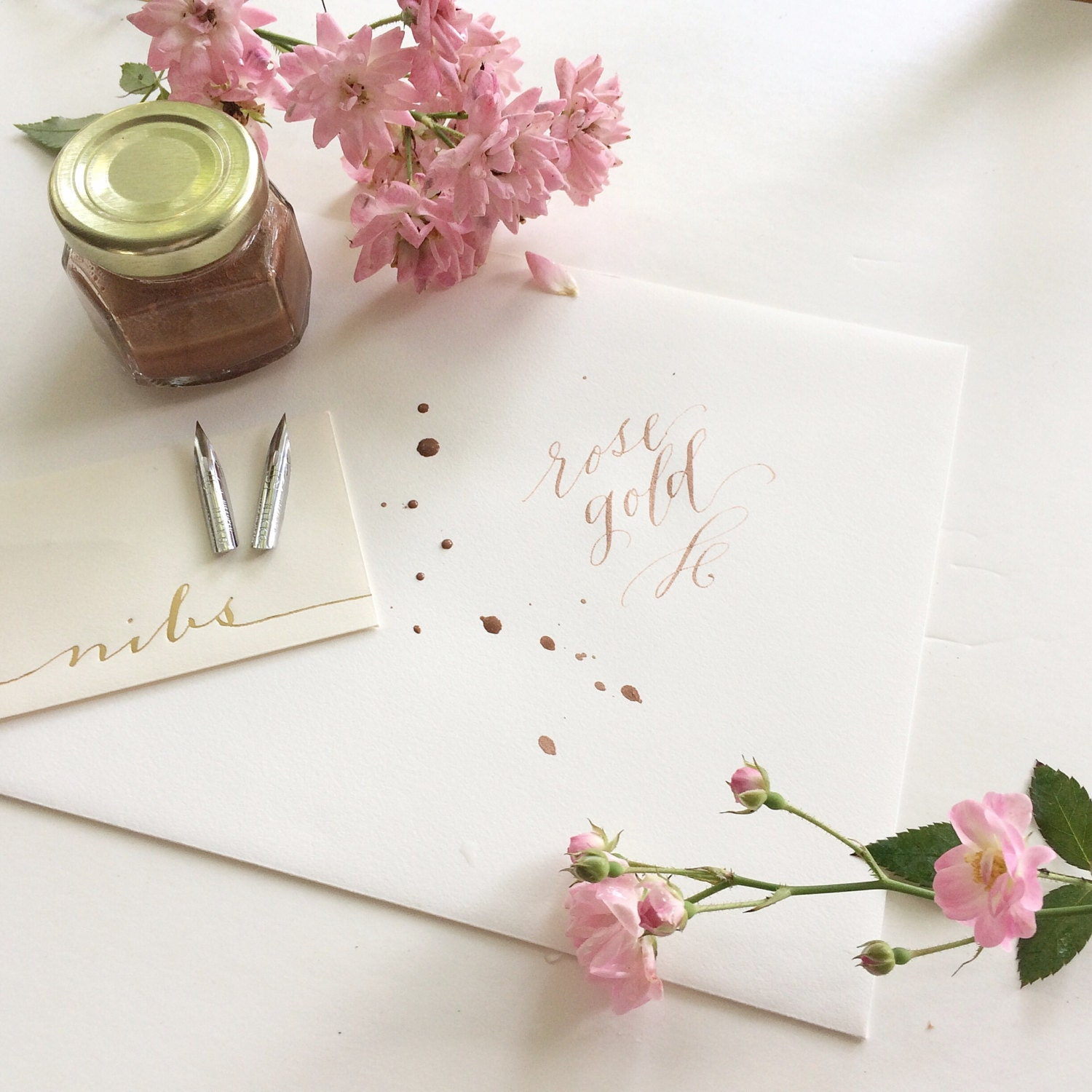 rose gold calligraphy kit add on from lhcalligraphy on