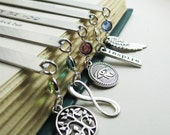 Personalized Bookmark,Teacher, Student Gift Idea, Bridesmaids Gifts, Wedding Date Gift,Metal Bookmark,Keepsake Gift, Birthstone Choice