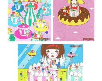 Set of Postcard  -Sweets1-