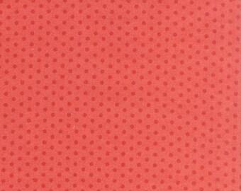 Cherry Blossom Garden fabric by Robert Kaufman Fabrics- Spot On Mini Dot in Coral-Fat Quarters, Half Yards, Yardage