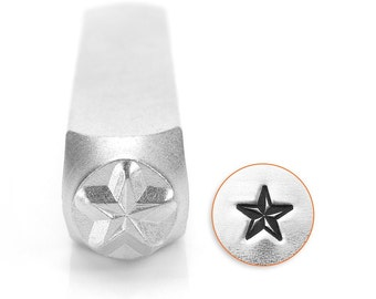 Design Stamp - Nautical Star - 6mm stamped image by ImpressArt -  includes How to Stamp Metal tutorial