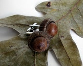 Natural Acorn Rustic Cuff Links by Tanja Sova