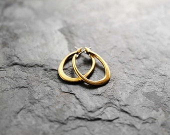 Hoop Earrings, Small Gold Hoops, Small Hoop Earrings, Gold Filled Hoop Earrings, Maya Small Gold Filled Earrings