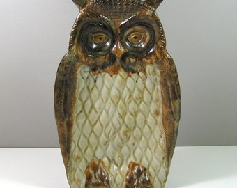 Ben's Inc Vintage Ceramic Owl Tray Caddy Figurine Made in Japan 1960's