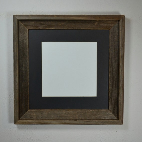 photo frame 12x12 with mat for 10x10 or 8x8 photo or by barnwood4u. Black Bedroom Furniture Sets. Home Design Ideas