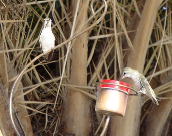 Bee-Proof, Drip-Free  Copper Hummingbird Feeder III