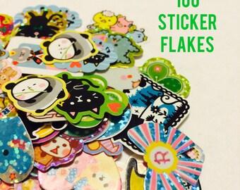 Kawaii Sticker Flakes 100 Lot