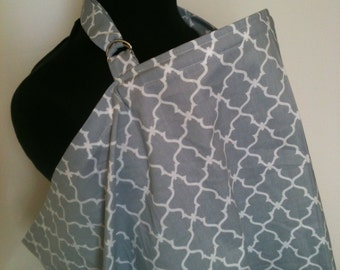 Nursing Cover-Gray Lattice Free Shipping on Second Item
