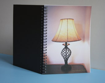 "6"" x 8"" Spiral Notebook Photography Fine Art Cover Keep Your Lamps Burning No. 05"