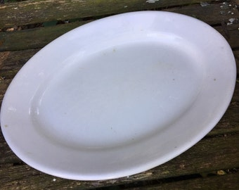 Antique Vintage Large Imperial Ironstone Well Loved Oval Platter