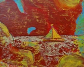 """Cove (painting, 5 1/2 """" x 6"""")"""