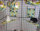 Sugar Glider Minions On Teal 7 Piece Cage Set Comes With Clips