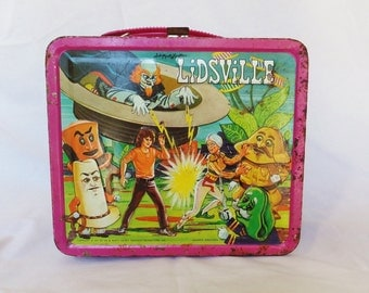Vintage Lunchbox Lidsville Lunchbox Vintage 1970's Character Lunchbox Child's Lunch Box Sid and Marty Krofft Collectible Lunchbox