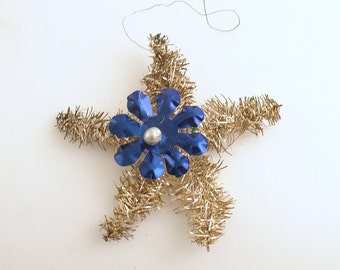 Vintage Christmas Ornament Tinsel Star Christmas Decoration West Germany