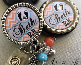 Stethoscope Id tag, stethoscope name tag, Rn Id badge reel SET, Rn gifts, L&D, nicu Rn, Personalized Id Badge Reel, RN badge reel, BSN