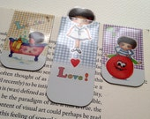 Magnetic Bookmarks - Set of 3 Little Curly bookmark (Set B)