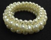 Vintage Faux Pearl Stretch Bracelet