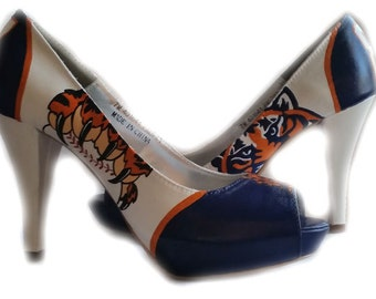 Wedding Shoes, Detroit Tigers, Baseball, Tigers Baseball, High Heels, Tigers Wedding Shoes, Reception, Price does not include shoes