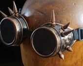 Steampunk spike Goggles Steampunk Airship Pirate cyber gothic glasses costume cosplay accessories