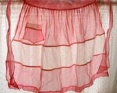 Vintage Half Apron Pink - Hostess - 1950's Organza