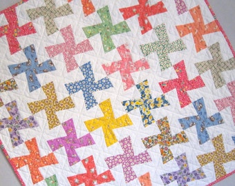 PINWHEELS  Vintage Quilt from Quilts by Elena 1930s Reproduction Fabrics