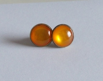Ohrstecker Cabochon orange