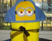 Minion Kevin Hooded Towel   READY TO SHIP