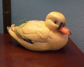 Vintage Yellow Gorham Duck Duckling Piggy Bank  No 50 090 11
