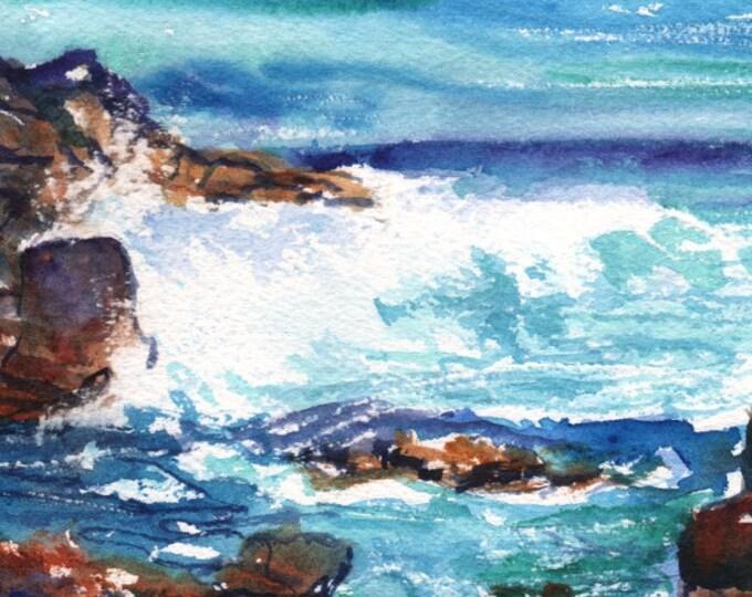 Kauai Ocean Wave -  5x7 Art Print - Kauai Seascape Art - Kauai Tide Pools Prints - Hawaiian Art Prints - Kauai Beach Ocean Art - Home Decor
