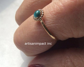 Engagement ring, Gold Filled ring, unique ring, simple Gold ring, dainty ring, turquoise ring, delicate ring, boho ring - So close R2250