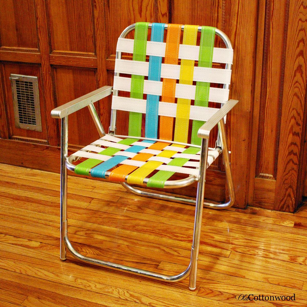 Vintage lawn chair folding lawn chair Lawnlite aluminum