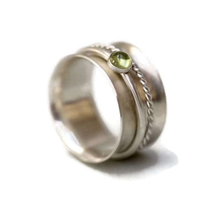 sterling silver ring spinner ring silver ring silver rings