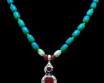 Lovely Nepali Turquoise & Carnelian