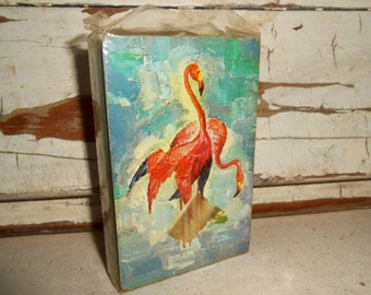 Vintage Flamingo Playing Cards, Vintage Stardust Pinochle Cards
