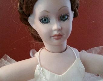 Handmade Porcelain Doll Ballerina