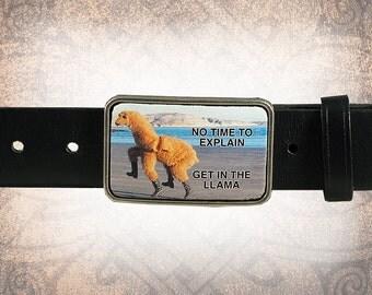 Belt Buckle - The Great Llama Escape