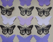 10 Monarch Butterfly 2 piece die cuts 3.75 Inches by 2.5 Inches Shades of Purple