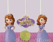 Sofia The First Cake Pop Topper Printable - DIGITAL - (Also works as Cupcake Picks!)