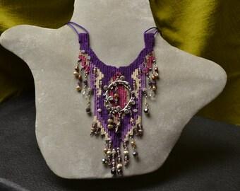 Purple Woven Necklace 759
