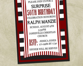 PRINTABLE- 50th Birthday Party Invitation