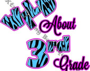 Wild About 3rd Grade TShirt